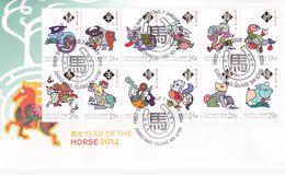 Christmas Island 2014 Year Of The Horse Zodiac FDC - Christmas Island