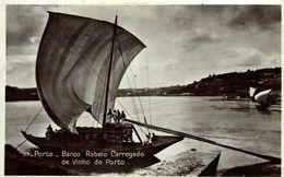 FOTOPOSTAL PORTUGAL PORTO PORTO BARCO RABELO CARREGADO DE VINHO DO PORTO - Porto