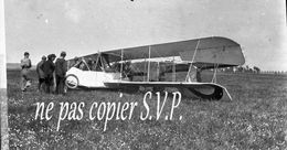 Guerre 14-18 AVIATION ATTERRISSAGE BRUSQUE DE GUILLEDOUX Négatif  Militaire Escadrille VB 110 Aerodrome CROISETTE 1915 - 1914-18