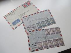 Jordanien 1960er Jahre 3 Luftpostbriefe In Die USA New York. Amman (Jordan) - Jordanien