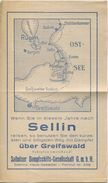Deutschland - Saßnitzer Dampfschiffs-Gesellschaft GmbH - Sellin - Fahrplan 1937 - Europe