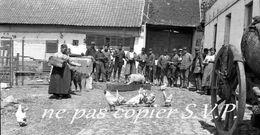 Guerre 14-18 AVIATION CANTONNEMENT LE DEJEUNER DE TOUS  Négatif De Militaire Escadrille VB 110 Aerodrome CROISETTE 1915 - 1914-18