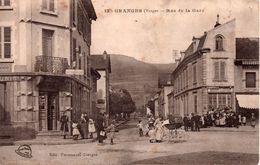 CPA 88  VOSGES - GRANGES -  Rue  De La  Gare   -  Animée - Granges Sur Vologne