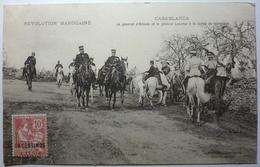 RÉVOLUTION MAROCAINE - LE GÉNÉRAL D'AMADE ET LE GÉNÉRAL LYAUTEY A LA SORTIE DU CIMETIÈRE - CASABLANCA - Casablanca