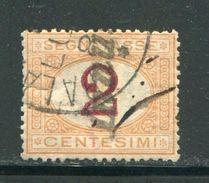 ITALIE- Taxe Y&T N°4- Oblitéré (une Coupure D'environ 6 Mm Sur Le Coté Gauche) - Segnatasse