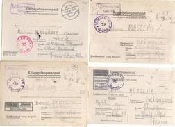 Lot De 28 Documents De Cartes Et Lettres  Cachet Stalag De Prisonnier De Guerre Réf, 1 - Guerre De 1939-45