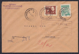 Yugoslavia 1948 Registered Letter - Zrenjanin, Loco - 1945-1992 Socialist Federal Republic Of Yugoslavia