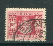 ITALIE- Taxe Y&T N°64- Oblitéré - 4. 1944-45 Social Republic
