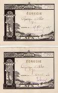 VP11.398 - VANNES 1939 - 40 - Ecole - Témoignage D'Examen - Elève George ALLO - Diplômes & Bulletins Scolaires