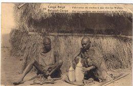 Congo Belga - Fabrication De Cruches à Eau Chez Les Wahutu - V. 1926 - Bella Affrancatura - Leggera Piega Angolare - Congo Belga - Altri