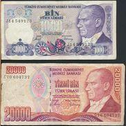 °°° TURKEY - 1000 20000 LIRA °°° - Turchia