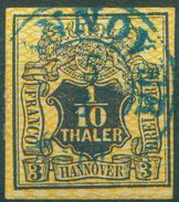 Nr. 12 Vollrandig Schöne Marke Michel 70 € - Hannover