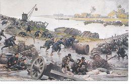 """MILITARIA (14/18) BELGIQUE BELLE CPA """"BATAILLE DE L'YSER"""" (OCTOBRE 1914) (BELLE ANIMATION) - Guerre 1914-18"""