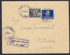 Yugoslavia 1949 Marshal Tito, Recommended Letter Sent From Sremska Mitrovica To Cicevac - 1945-1992 Socialist Federal Republic Of Yugoslavia
