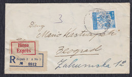 Yugoslavia 1950 Express Registered Letter Sent From Zagreb To Beograd - 1945-1992 Socialist Federal Republic Of Yugoslavia