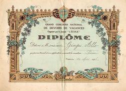 VP11.408 - PARIS 1936 - Journal L' Ecole - Concours National - Diplôme - Elève George ALLO - Diplômes & Bulletins Scolaires