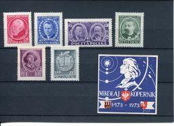 28071  Poland, Differents Stamps MNH Michel 694/99 + Adhesive Label Kopernikus - 1944-.... Republic