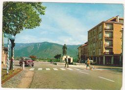 137  BASSANO DEL GRAPPA PIAZZA E MONUMENTO GENERALE GIARDINO 1969 ANIMATA - Vicenza
