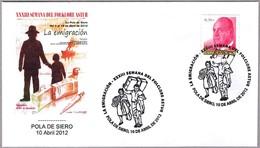 Matasellos FOLKLORE ASTUR: LA EMIGRACION - EMIGRATION. Pola De Siero, Asturias, 2012 - 2011-... Lettres