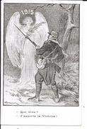 """MILITARIA (14/18) ANGE TRES BELLE CPA 1915 """"QUI VIVE ? / J'APPORTE LA VICTOIRE"""" (PAPIER GLACé) - War 1914-18"""