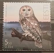 Estonia, 2009, Mi: 646 (MNH) - Búhos, Lechuza