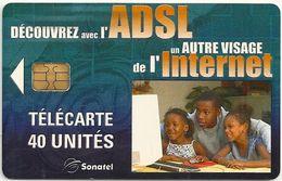 Senegal (Sonatel) Phonecard - ADSL Internet, 40Units Sample (No Serial) - Senegal