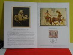 Document Luxe > Ramsès Le Grand,Ramsès II En Sphinx - Ramsès Sur Son Char > 4.10.1978 > 75 Paris > FDC 1er Jour - Epreuves De Luxe