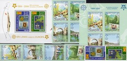 EUROPE SRI LANKA 1525/6,Bl.102+Bosnien-Mostar 339/2,VB,Block 13A ** 240€ Blocs Stamps On Stamp Ships Sheets Ss CEPT - Sri Lanka (Ceylan) (1948-...)