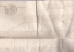 Généalogie Famille STROBANT Réalisée En 1757 Sur Papier XVIIIe Format A1 Bruges Pour Famille De VRIERE + STROOBANT - Historical Documents