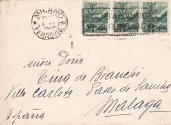 MILANO TO/HACIA MALAGA. CIRCA 1910S. - BLEUP - Usati