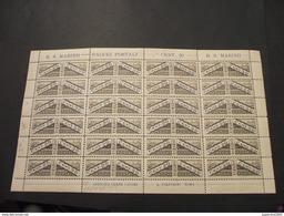 SAN MARINO - PACCHI POSTALI - 1928 VEDUTA 20 C., In Foglio Di 24 Pezzi - NUOVO(++) - Colis Postaux