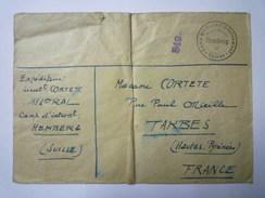 ENVELOPPE Au Départ Du CAMP D'INTERNEMENT De  HEMBERG  Vers 1940    - Lettres & Documents
