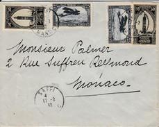 Saffi Pour Monaco Via Marseille 1932 - Marocco (1891-1956)