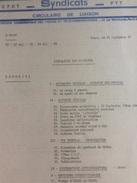 Syndicats C.F.D.T P.T.T. Circulaire De Liaison Septembre 1977 - 30 Pages - Politique