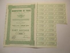 Manufacture De Tissus (Ancienne Firme Albert Oudin Et Cie) Dinant - Actions & Titres