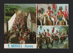 AZORES AÇORES 1960s Postcard S. MIGUEL PORTUGAL Horse Horses Chevaux Pferde Z1 - Postcards