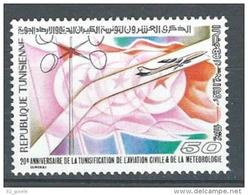 "Tunisie YT 885 "" Aviation Civile Et Météorologie "" 1978 Neuf** - Tunisia (1956-...)"
