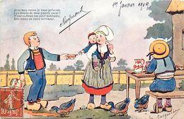Themes Div -ref U904- Illustrateurs - Illustrateur Raphael Tuck - Enfants -bretons -bretagne -  Carte Bon Etat  - - Tuck, Raphael