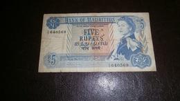 MAURITIUS 5 RUPEES 1967 - Mauritius