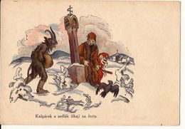Kasparek A Sedlak Chaji Na Certa CZECH REP.  CSSR Duivel DEVIL TEUFEL Not Posted  No Postally Stamped  375 /d1 - Contes, Fables & Légendes