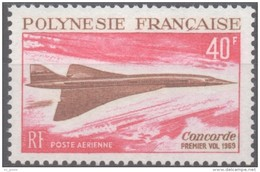 "Polynésie Aerien Yt 27 (PA 27) "" Le Concorde "" 1969 Neuf** - Neufs"