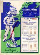 08- VIVIER AU COURT- BELLE PUBLICITE TARIF N° 33-CAMION FRERES-TONDEUSE MORAIMONT- IMPRIMERIE BUTTNER THIERRY SAINT OUEN - Agriculture