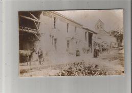 CABANES (TARN) BELLE PHOTO ANIMEE AVEC CHEVAL CHARRETTE ET EGLISE 1900 - Places