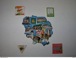 15 Féves Département De La CREUSE Puzzle Complet 11 Piéces + 4 Régionales , Serie Complete , Limousin,  Feve - Regions