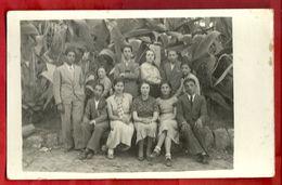 PS----ANTICHISSIMA FOTO---GRUPPO DI STUDENTI--CHIUSURA ANNO SCOLASTICO GINNASIALE DI CALTANISSETTA 1935/36 - Persone Anonimi
