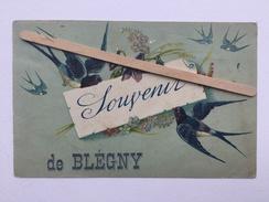 SOUVENIR DE BLÉGNY « Hirondelles ,violettes «1926 Édit M.G.A - Blegny