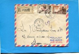 Marcophilie- Lettre REC -guerre D' ALGERIE- Cad  1957-Poste Aux Armées-SP 86530-affranchissement 2 Stamps 65frs - Postmark Collection (Covers)