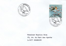2007 LUXEMBOURG  CHRISTMAS EVENT COVER Bird ROBIN Stamps Birds - Christmas