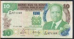 °°° KENYA - 10 SHILLINGS 1988 °°° - Kenia