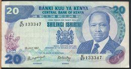 °°° KENYA - 20 SHILLINGS 1987 °°° - Kenia